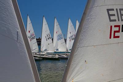 Photograph - Training Sailboats Newport Beach by Cliff Wassmann