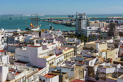 Photograph - Training Tall Ship Elcano Departing Cadiz Spain by Pablo Avanzini