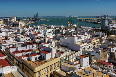 Photograph - Training Tall Ship Elcano Departs Cadiz Spain by Pablo Avanzini