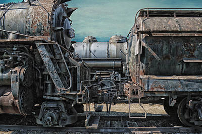 Rusted Cars Mixed Media - Trains Ancient Iron by Thomas Woolworth