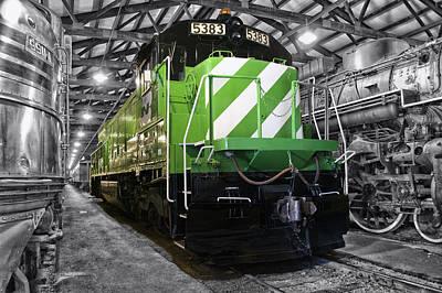Trains Burlington Northern Locomotive 5383 Sc Art Print