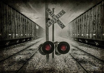 Photograph - Trains Crossing by Jim Ziemer