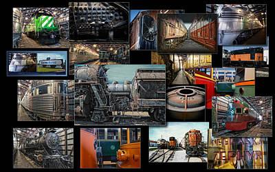 Trains Irm Collage Art Print
