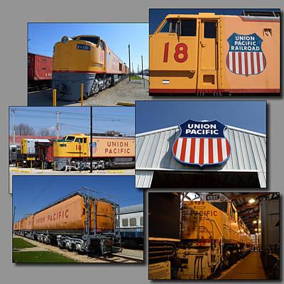 Trains Irm Union Pacific Collage Art Print