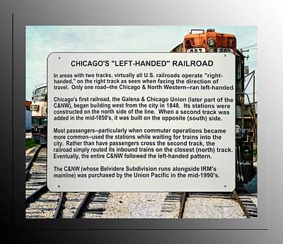 Trains Left Handed Railroad Signage Art Print