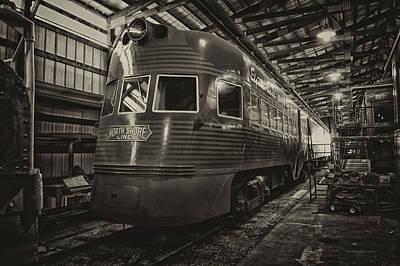 Trains North Shore Line Electroliner Sepia Art Print