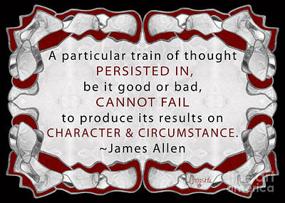 Trains Of Thought Abstract Motivational Art By Omashte Print by Troy McClain