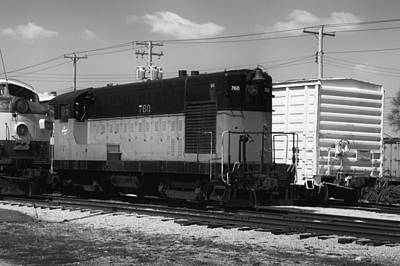 Trains The Milwaukee Road 760 Diesel Locomotive Bw Art Print