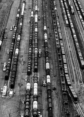 Photograph - Trainyard by Steven Richman