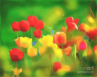 Digital Art - Traipsing Through Tulips 2016 by Kathryn Strick