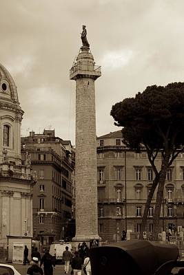 Photograph - Trajan's Column by Eric Tressler
