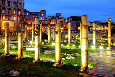 Photograph - Trajan's Forum by Fabrizio Troiani