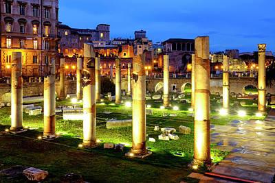 Photograph - Trajan's Forum by Fabrizio Troiani