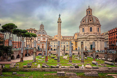Photograph - Trajan's Forum Rome Italy by Joan Carroll