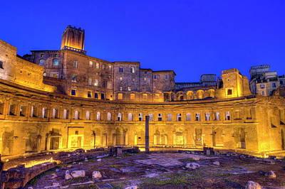 Photograph - Trajan's Forum, Traiani, Roma, Italy, Hdr by Elenarts - Elena Duvernay photo