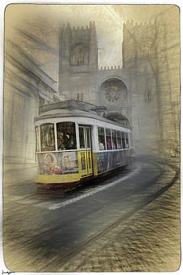 Digital Art - Tram 28 Lisbon by Diane Dugas