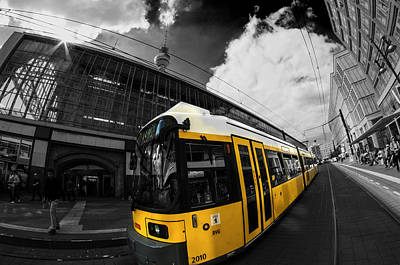 Tourist Attraction Digital Art - Tram And Tower by Nathan Wright
