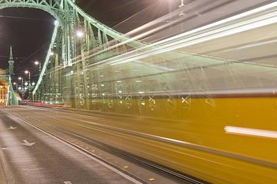 Tram In Budapest Art Print
