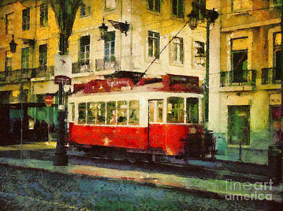 Painting - Tram In Lisbon by Dimitar Hristov