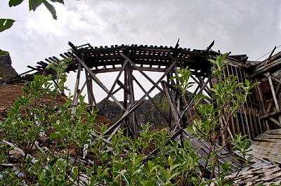 Photograph - Tram - Independence Mine Historical Site by Cathy Mahnke