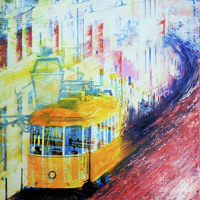 Tram Mixed Media - Tram by Nica Art Studio