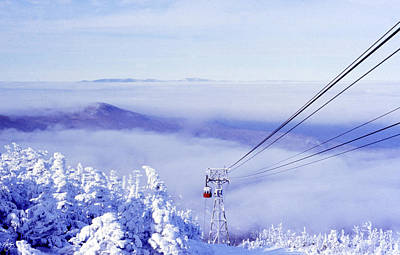Spot Of Tea - Tram in the Clouds on Cannon Mountain by Wayne King