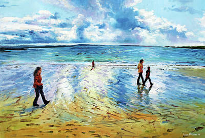 Tramore Beach Waterford Original by Conor McGuire