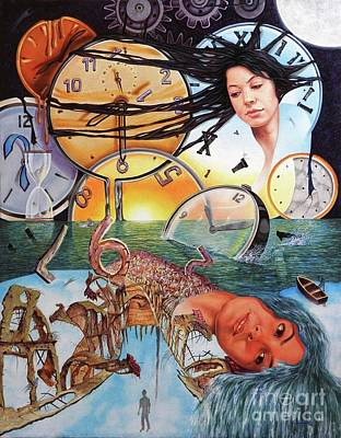 Trampas Del Tiempo Art Print by Jorge L Martinez Camilleri