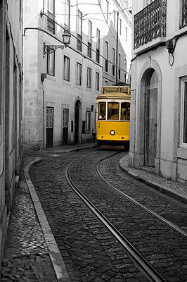 Photograph - trams of Lisbon III by Bruno Amaral