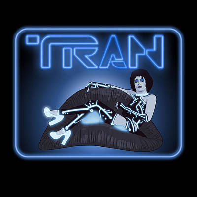 Tron Digital Art - Tran by Jason  Wright