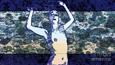 Form Mixed Media - Trance Girl No. 2 By Mary Bassett by Mary Bassett