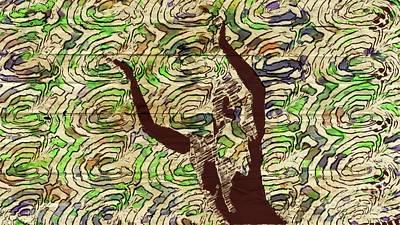 Dancers Mixed Media - Trance Girl No. 3 By Mary Bassett by Mary Bassett