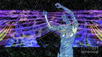 Dancers Mixed Media - Trance Girl No. 4 By Mary Bassett by Mary Bassett