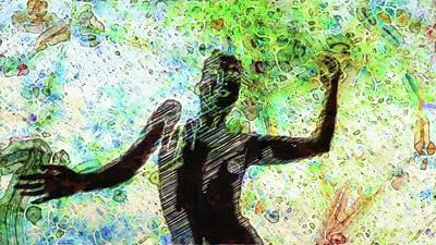 Dancers Mixed Media - Trance Girl No. 7 By Mary Bassett by Mary Bassett