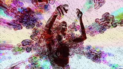 Dancers Mixed Media - Trance Girl No. 8 By Mary Bassett by Mary Bassett