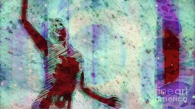 Dancers Mixed Media - Trance Girl No. 9 By Mary Bassett by Mary Bassett