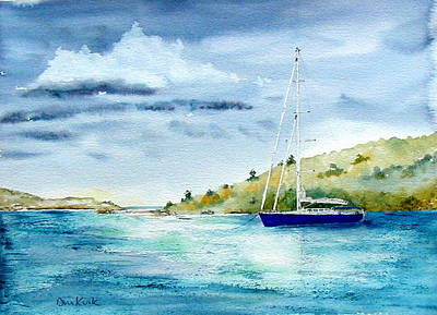 Painting - Tranquil Anchorage by Diane Kirk