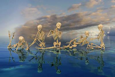 Surrealism Digital Art - Tranquil Array by Betsy Knapp