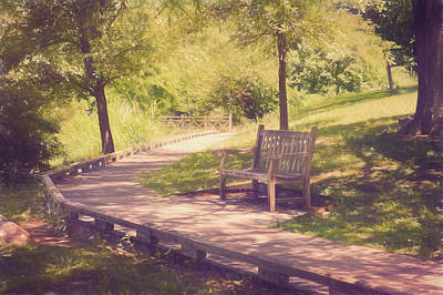 Photograph - Tranquil Bench by Ann Powell