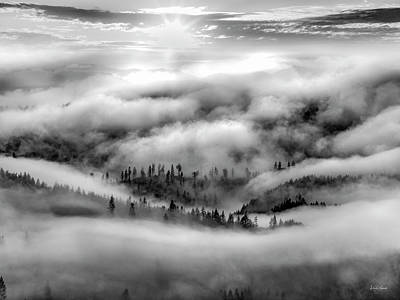 Photograph - Tranquil Black And White 10 by Leland D Howard