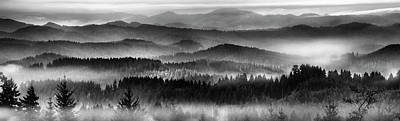 Photograph - Tranquil Black And White 11 by Leland D Howard