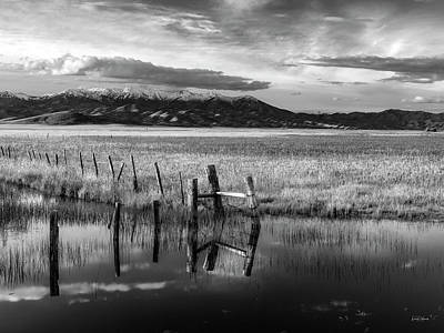 Photograph - Tranquil Black And White 16 by Leland D Howard