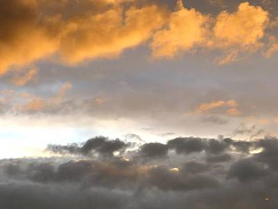 Photograph - Tranquil Cloudscape by Will Borden