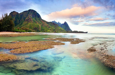 Tranquil Dawn Hawaii Print by Monica and Michael Sweet