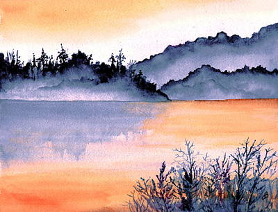 Painting - Tranquil Dusk by Brenda Owen