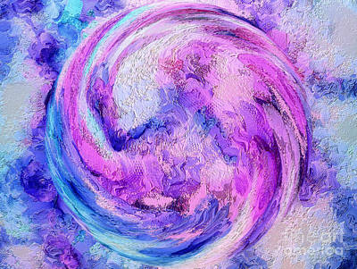 Abstract Movement Digital Art - Tranquil Energy by Krissy Katsimbras