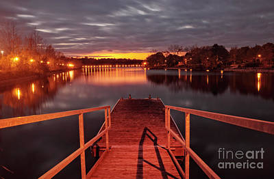 Photograph - Tranquil Evening At Jetty by Charline Xia