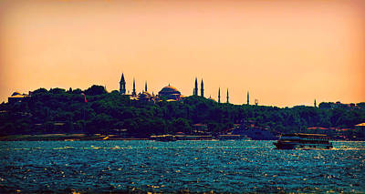 Photograph - Tranquil Evening In Istanbul by Lilia D
