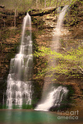 Tranquil Falls In Vertical Art Print by Tamyra Ayles