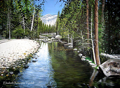 Painting - Tranquil Forest by Elizabeth Robinette Tyndall